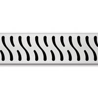 Душовий канал з матов. решіт.  Гармонія, кромка з нерж. ст., DN50, 850 мм, CH 850/50 HN1
