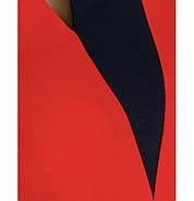 / Размер 50,52,54,56-58,60-62 / Женское платья батал / 1867-1-Красно-Черный, фото 2
