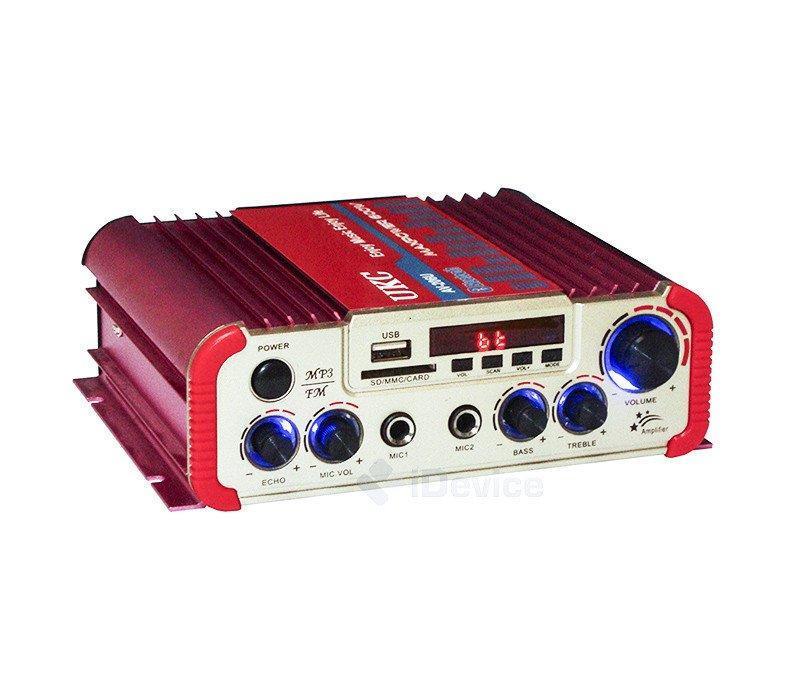 Усилитель звука UKC AV-206U - Bluetooth, USB, SD, FM, MP3