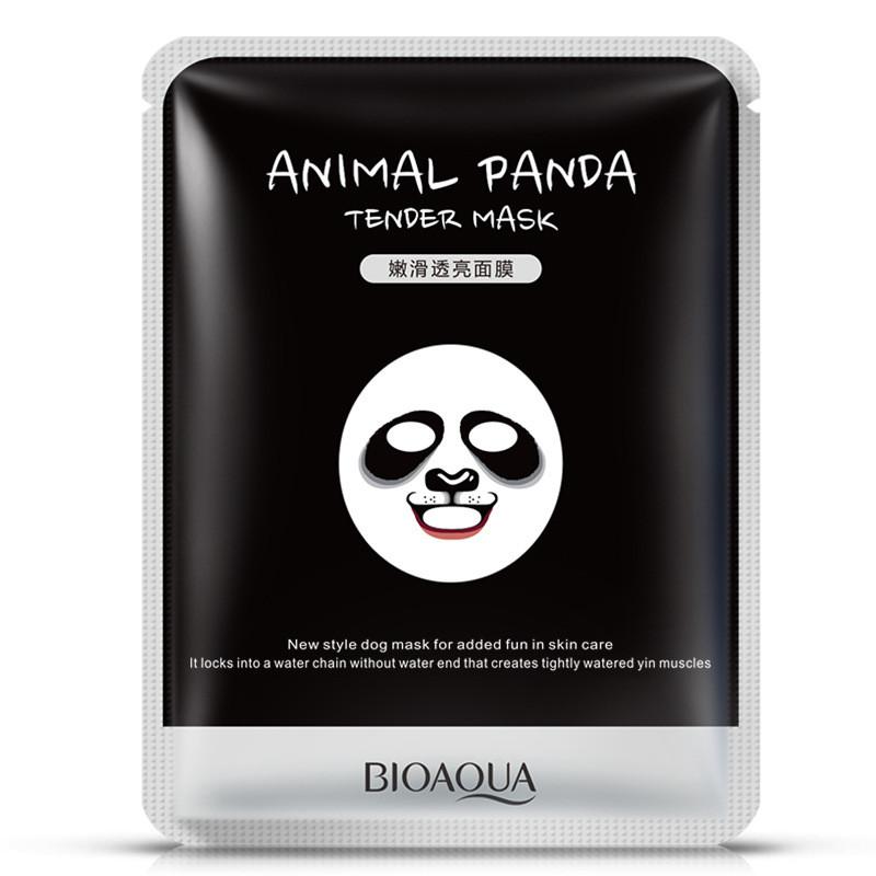 Смягчающая маска для лица с принтом панды Bioaqua Animal Panda Tender Mask (30г)