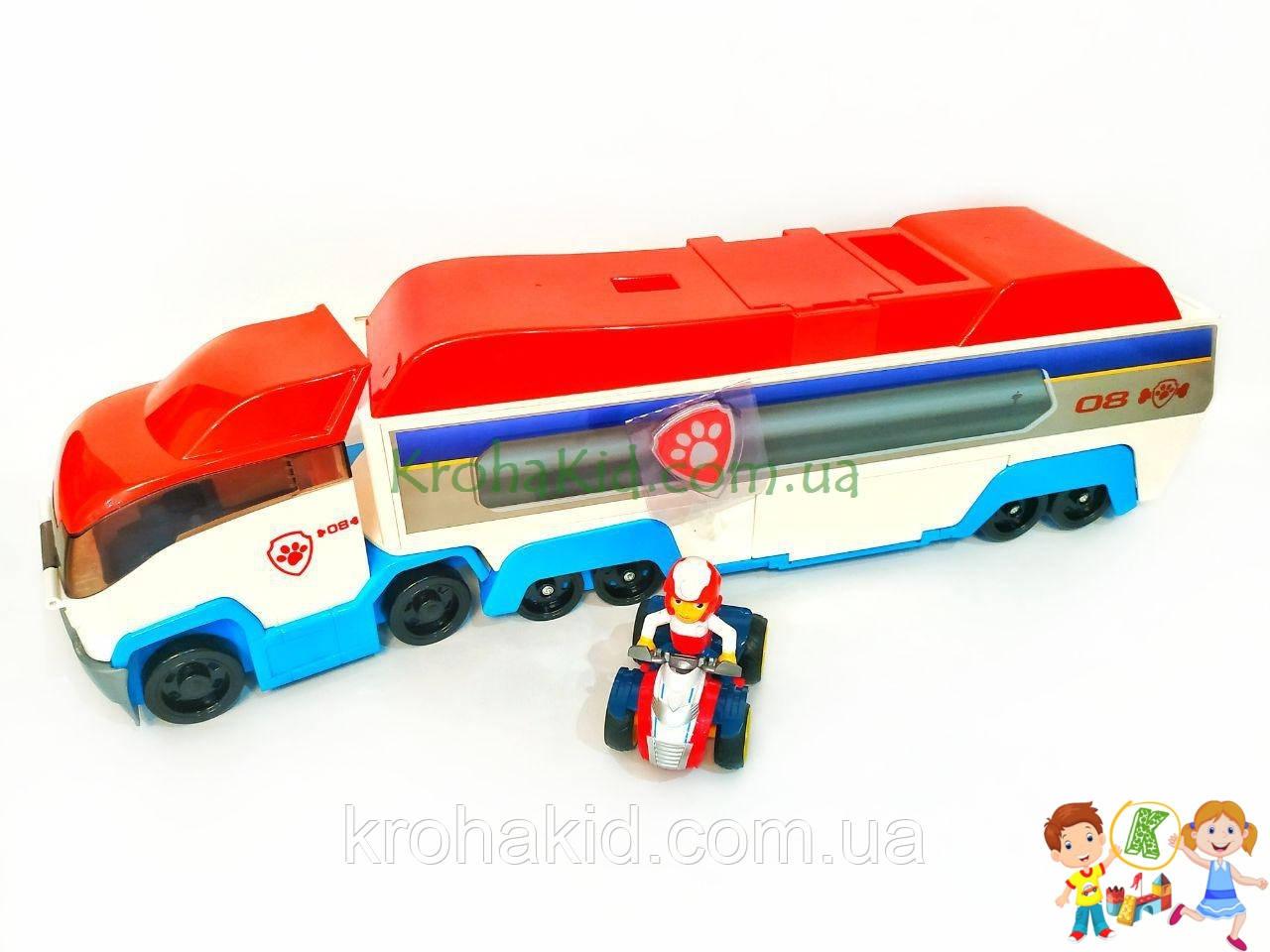 Детский большой автовоз Щенячий Патруль гараж на 3 машины GG020 paw patrol СО ЗВУКОВЫМИ ЭФФЕКТАМИ