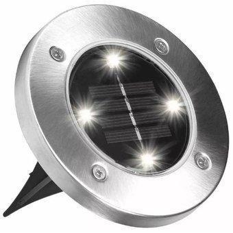 Уличный светильник на солнечной батарее Solar Ligth at garden 4 Led 5W Disk Lights