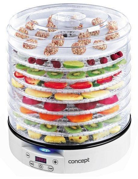 Сушарка для овочів і фруктів Concept SO-2020 дегидратор 500 Вт. на 9 лотків Чехія