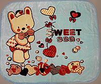 Детское одеяло плед  двусторонний 100х125 см (Х-008)