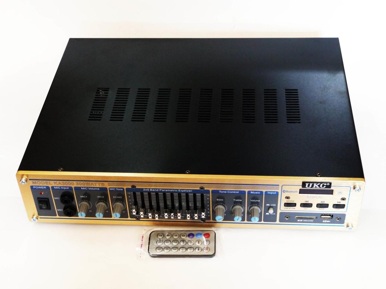 Усилитель мощности звука UKC KA3000 Bluetooth Караоке
