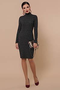 Приталенное платье средней длины цвет черный