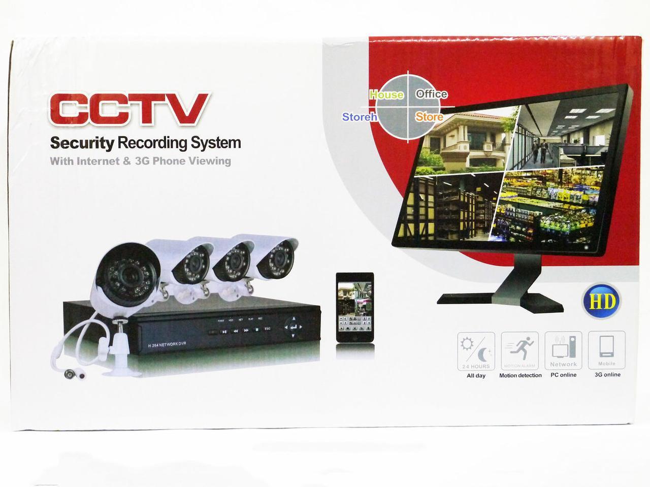 Видеорегистратор DVR KIT HD720 4-канальный (4 камеры в комплекте)