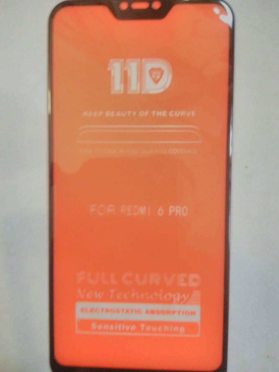 Защитное стекло 11D   Xiaomi Redmi 6 Pro / Mi A2 Lite (черн.)
