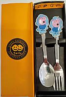 Детский набор ложка вилка Джордж Свинка Пеппа, фото 1