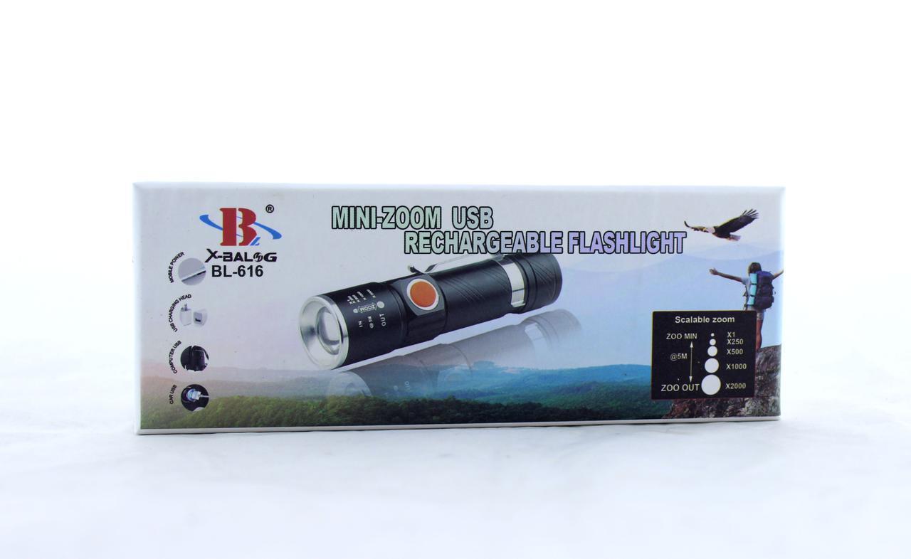 Фонарик BL 616 - T6 USB (ОПТОВАЯ цена от 240 шт)