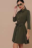 Сукня в діловому стилі з креп-костюмки, фото 1