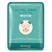 Питательная маска для лица с принтом овечки Bioaqua Animal Dog Addict Mask (30г)