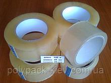 Скотч упаковочный прозрачный 100 метров прочный, ширина 45 мм./ 38мкм. клейкая лента упаковочная купить Киев