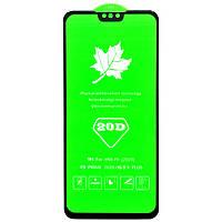 Защитное стекло 20D для Huawei Y9 2019 клей по всей поверхности (Black)