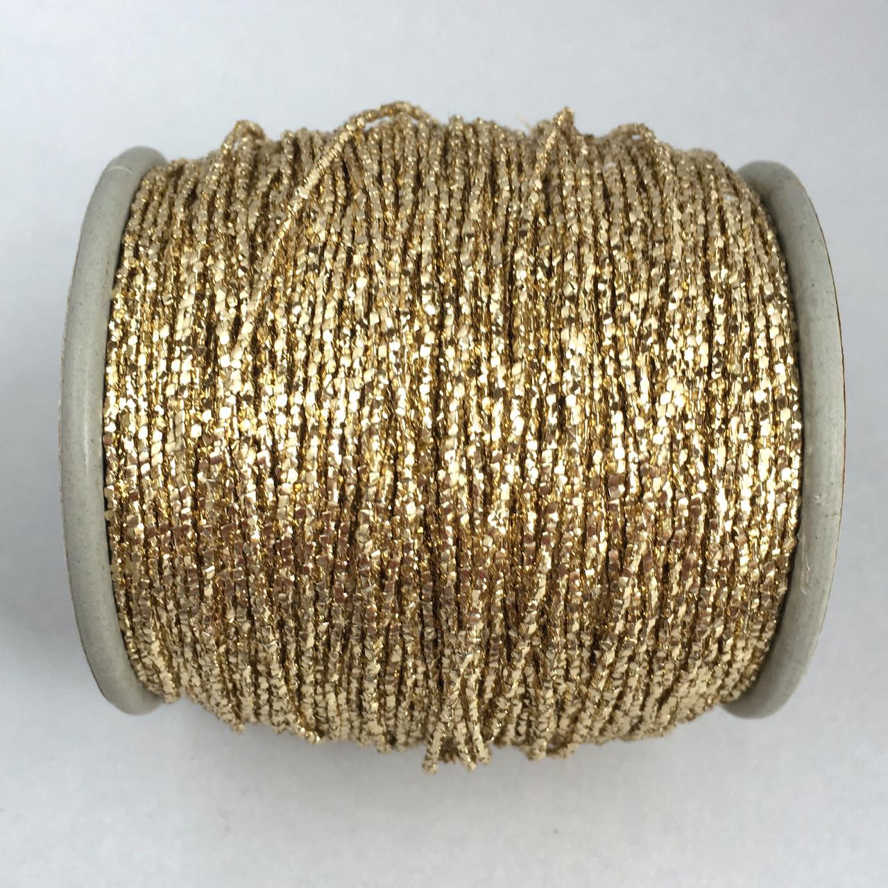 Нить металлизированная 1 мм. Цвет: светло-золотой. 1 м
