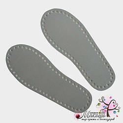 Подошва (стельки) для тапочек (эко-кожа), серый, размер 36-37