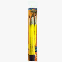 Набор кистей для рисования, круглых, пони № 1, 3, 5, 7, 10, Zibi, ZB.6963PR-5, 923172