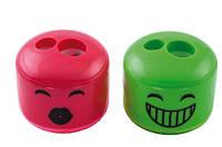 Точилка 2 отверстия c контейнером пластиковая Смайлик, Kids Line, Zibi, ZB.5592, 944887