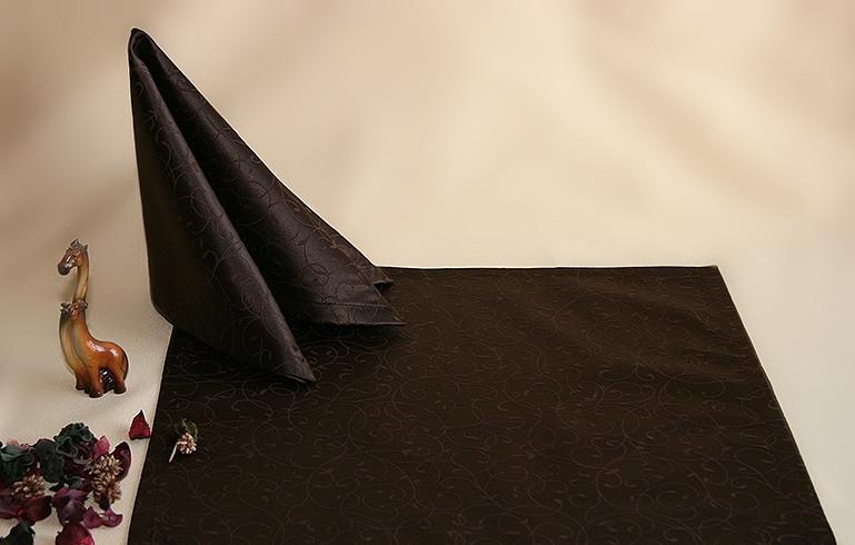 Салфетка 40 х 40 ткань Мати рис. 1812 Коричневый темный .