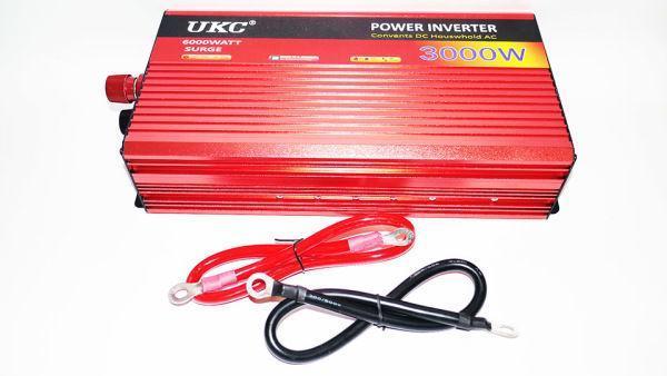 Перетворювач авто інвертор з Функцією плавного пуску UKC 12V-220V 3000 Вт з USB