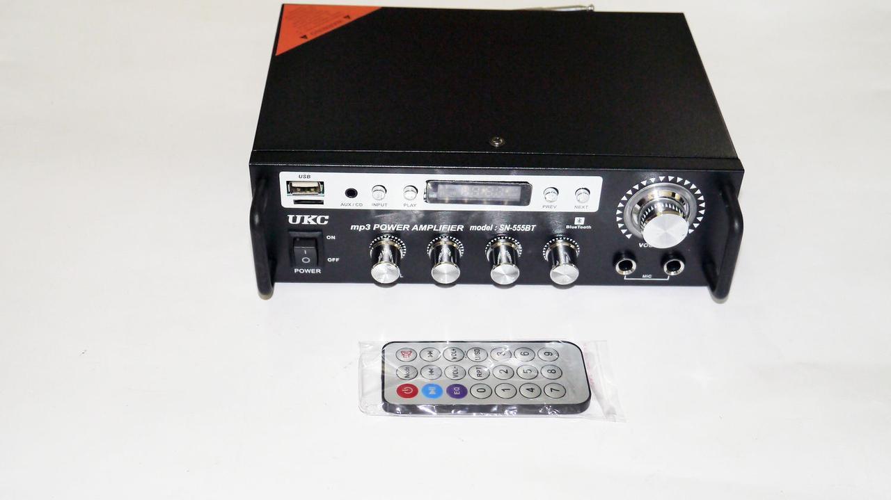 Усилитель звука UKC SN-555BT Bluetooth + Караоке