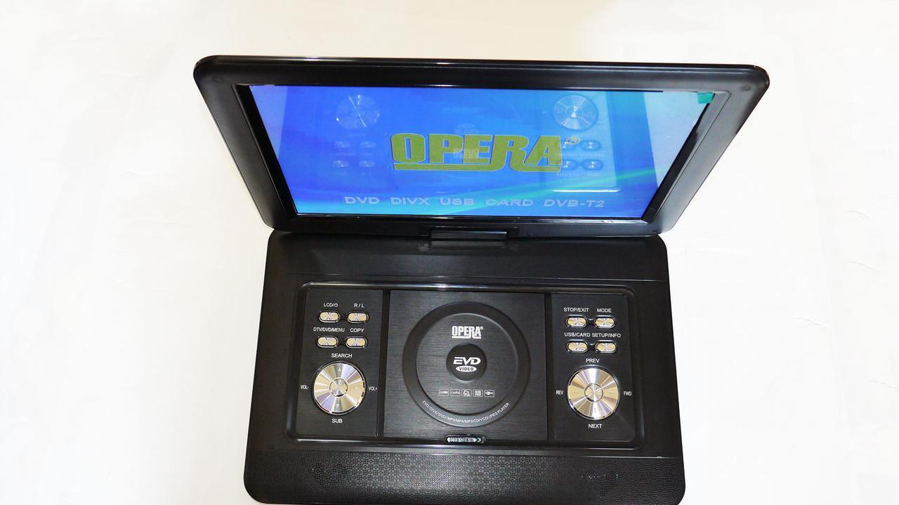 """15,6"""" DVD Opera 1680 Портативний DVD-програвач з Т2 TV USB SD"""