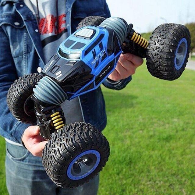 Трюковый BigFoot Rock Crawler на р/у, 41 см, UD2170A   Масштаб 1:12   Синего цвета