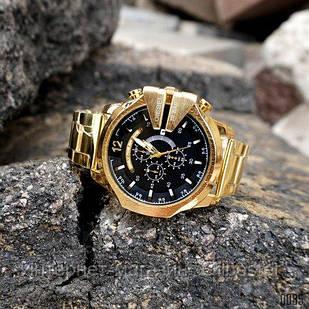 Часы мужские Diesel 10 Bar Gold-Black