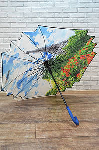 Зонт трость цветной