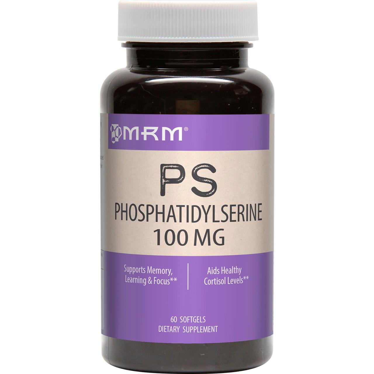 MRM, Фосфатидилсерин (PS, Phosphatidylserine), 100 мг, 60 капсул