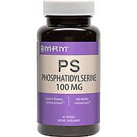 MRM, Фосфатидилсерин (PS, Phosphatidylserine), 100 мг, 60 капсул, фото 1