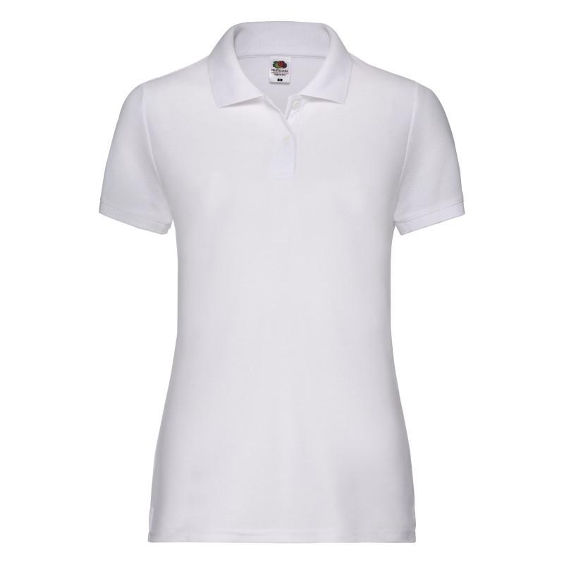 Женская рубашка поло Lady Fit 65/35 Polo (Цвет: Белый; Размер: 2XL)