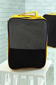 Сумка спорт желтая с черным 22 х 32 х 14 см СС04