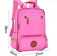 Школьный ранец синий розовый. Рюкзак детский ткань Оксфорд MK 259Р