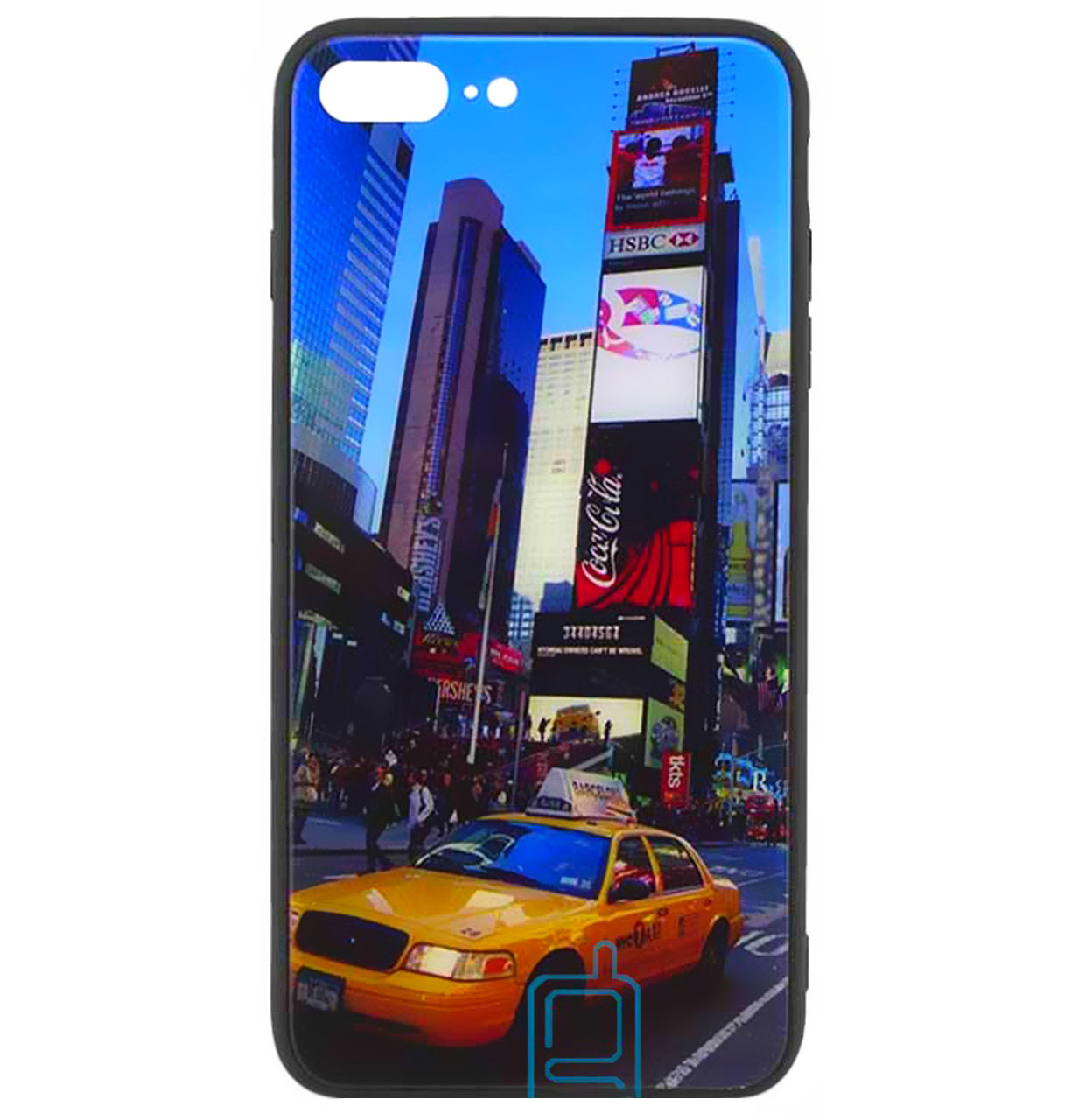 Чехол-накладка TPU+Glass Night series для iPhone 7 Plus / 8 Plus (Manhattan)