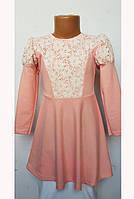 Платье для девочки с кружевом 8486
