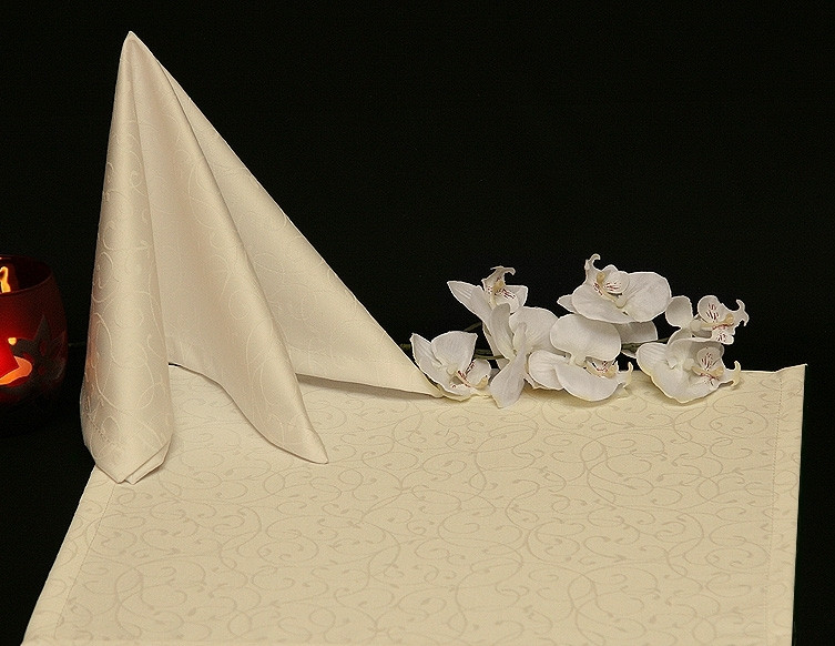 Салфетка 40 х 40 ткань Ричард рис.1812 Шампань (от 4 шт. )