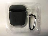 Чехол для наушников case Apple Airpods черный