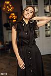 Шелковое платье-рубашка с длинными завязками на воротнике, фото 3