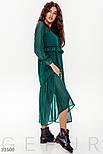 Шифоновое платье бохо в горошек зеленое, фото 3