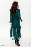 Шифоновое платье бохо в горошек зеленое, фото 4
