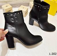 36 р. Ботинки женские деми черные на среднем высоком каблуке, демисезонные,весенние, осенние,вена,осень, фото 1
