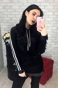 Туника женская черная 2214