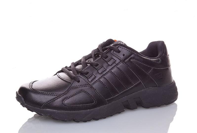 Кроссовки Restime мужские кожаные чёрные