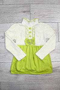 Платье детское салатовое 2858-4