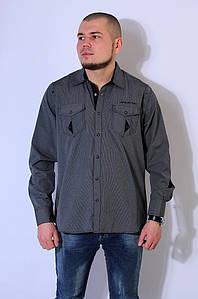 Рубашка мужская черная 2918