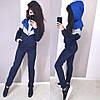 Теплый спортивный костюм женский на молнии трехнитка