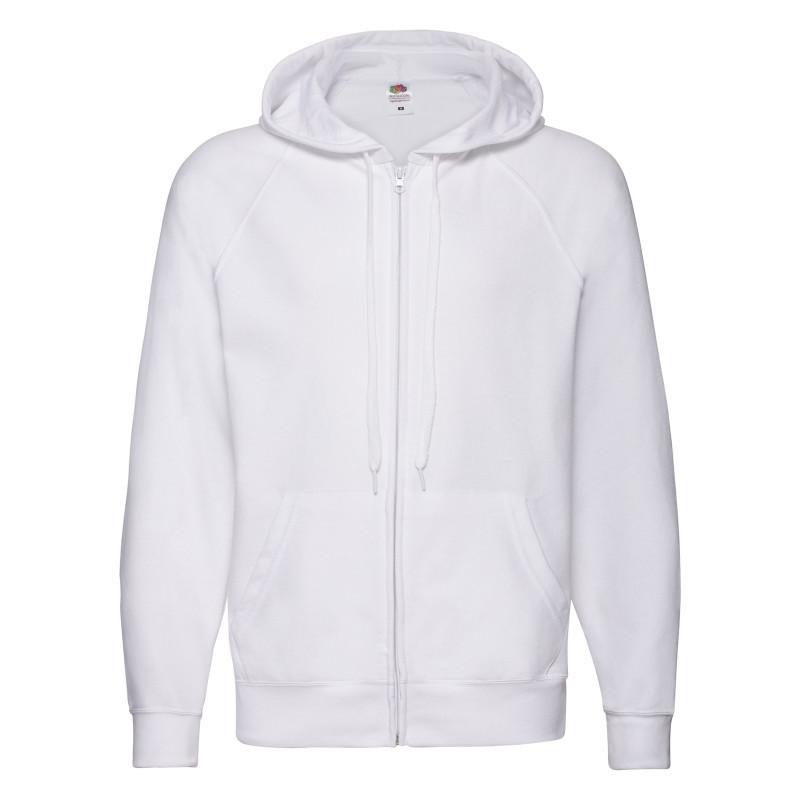 Чоловіча толстовка Lightweight Hooded Sweat Jacket (Колір: Білий; Розмір: 2XL)