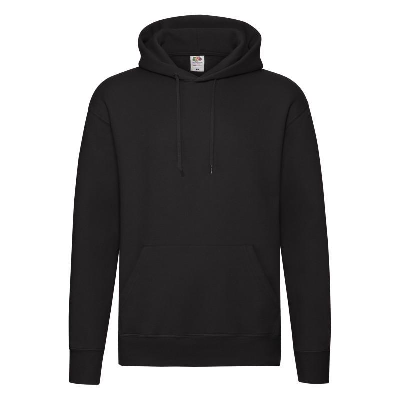 Мужская толстовка под нанесение Premium Hooded Sweat (Цвет: Чёрный; Размер: 2XL)