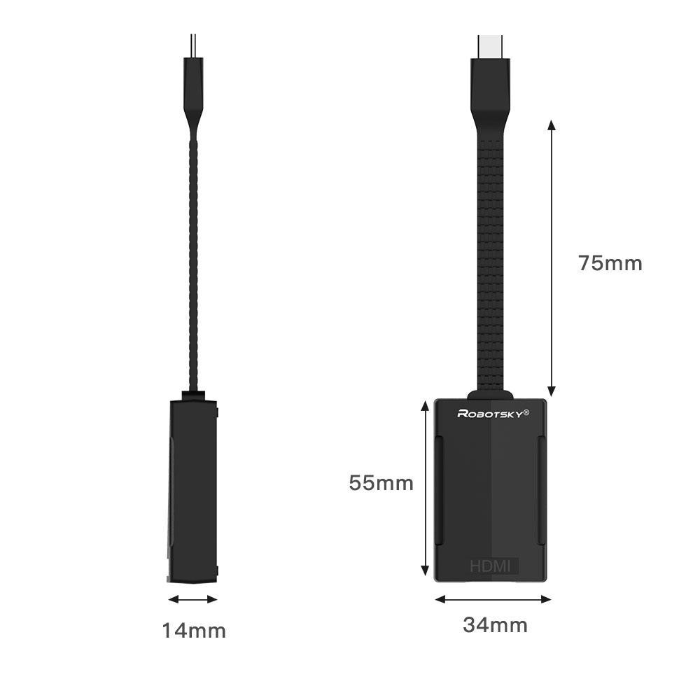 Адаптер кабель переходник видео и аудио сигнала Type c - Hdmi макро вид